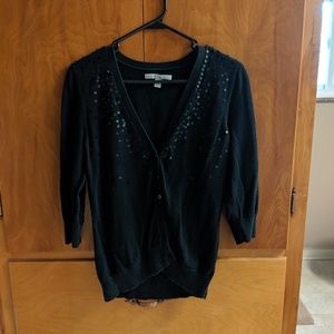 Old Navy Black Sequined Cardigan